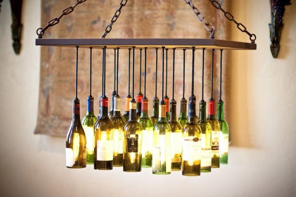 Chandelier from the bottles.
