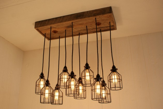 Idea for a makeshift chandelier.