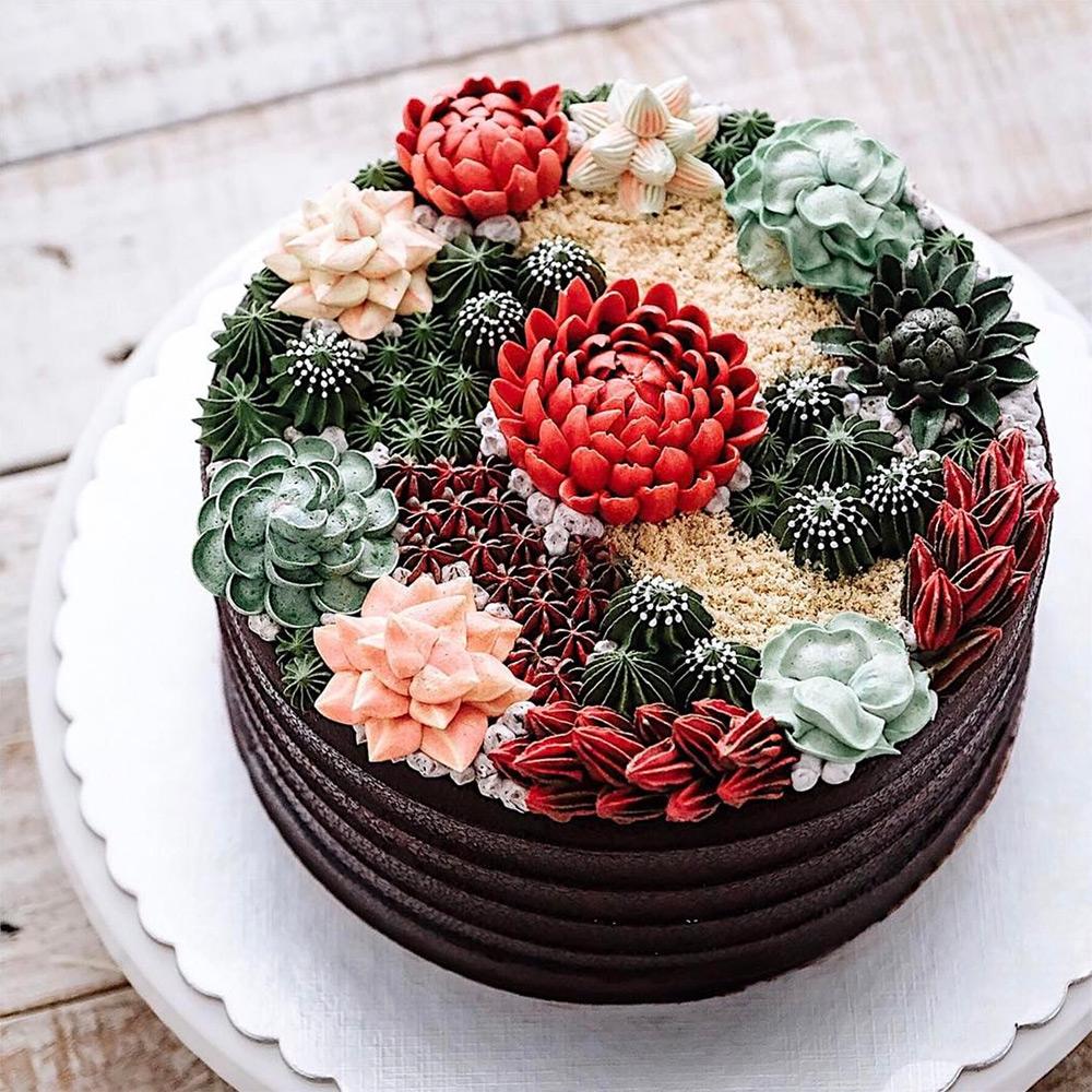 Украсить торт цветами в домашних условиях 162