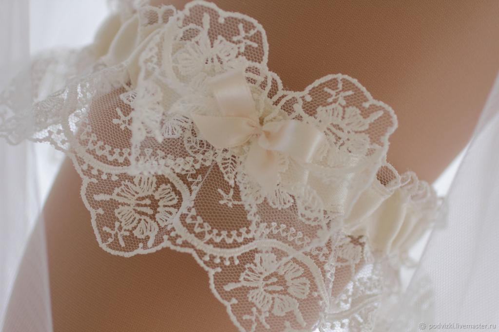 Как сшить подвязку для невесты своими руками кружево 98