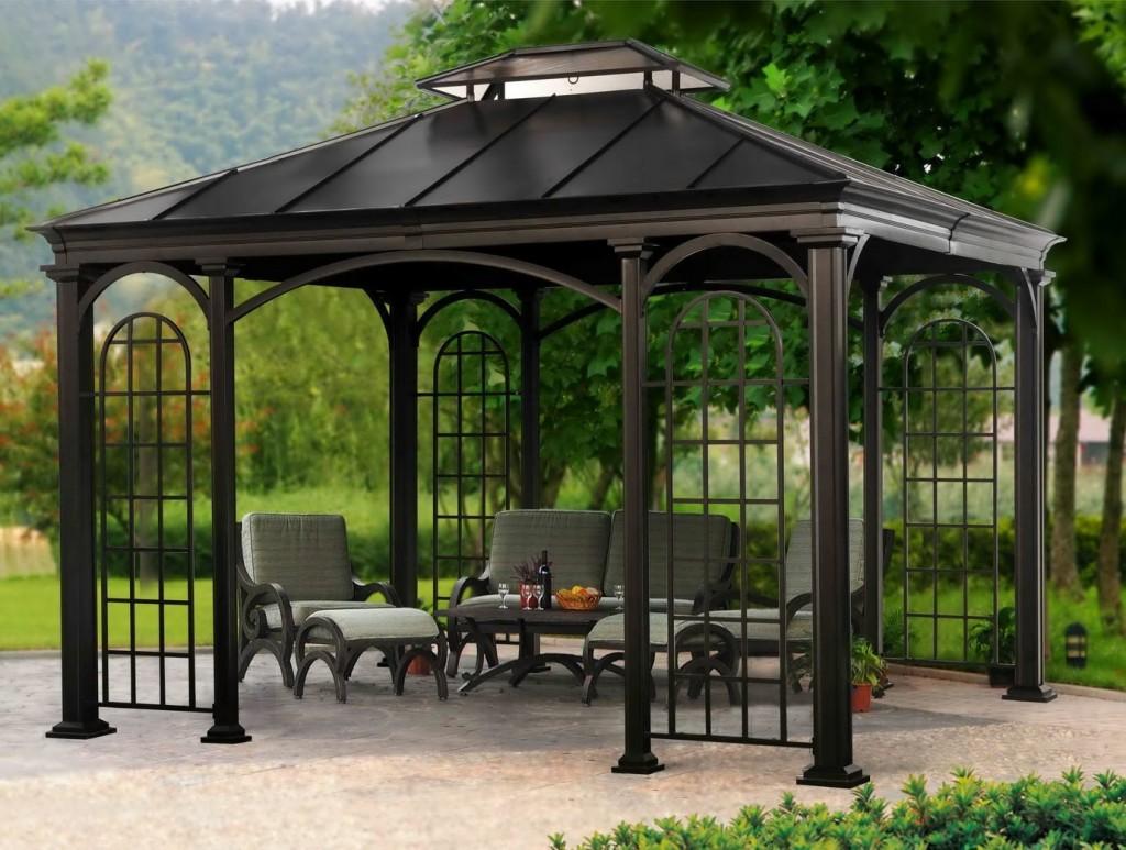 Metal frame pavilion