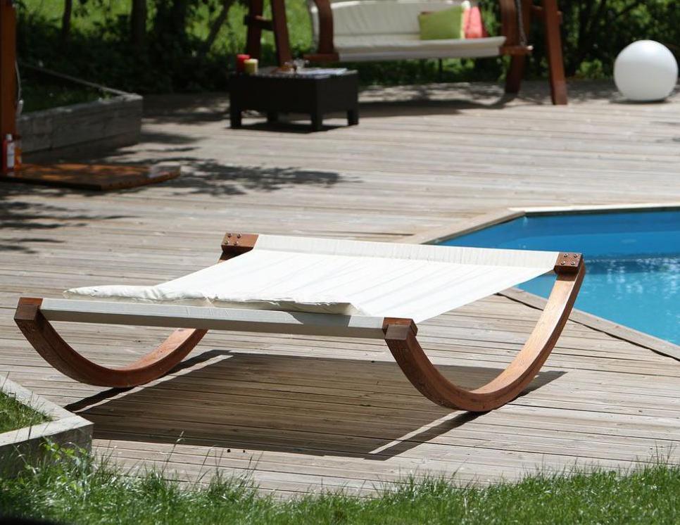 Wooden hammock bed