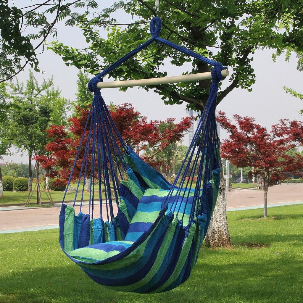 Fabric hammock swing