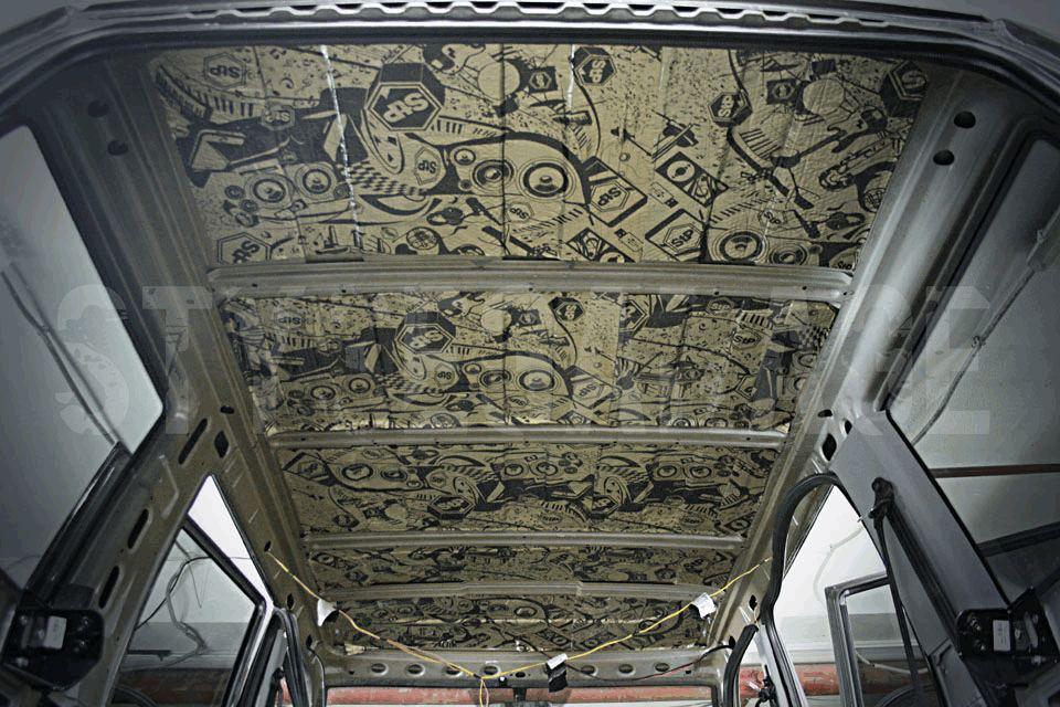 Шумоизоляция потолка УАЗ Патриот