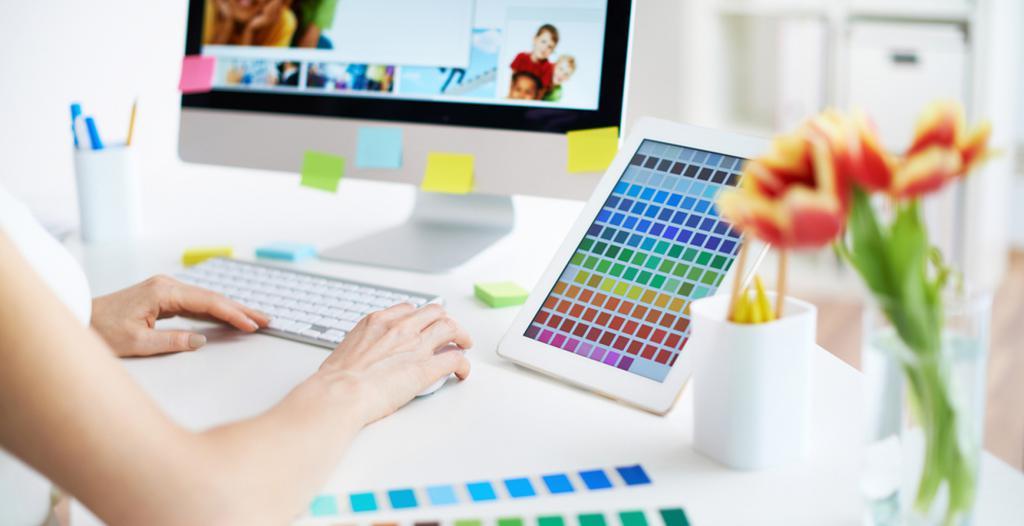 The work of a web designer or webmaster
