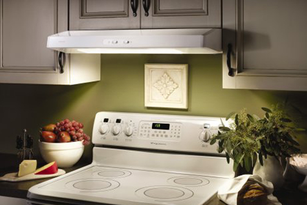 electronically controlled exhaust hood