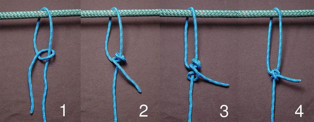 Как завязать прямой узел
