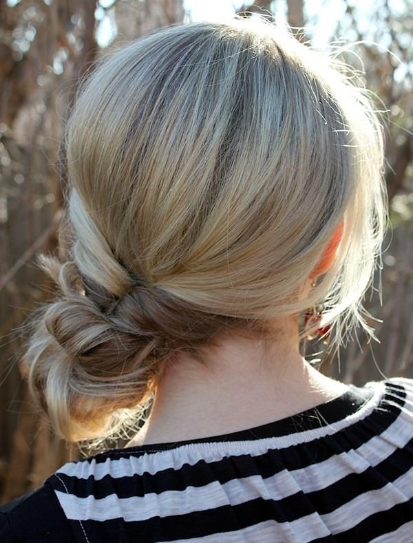 косы с помощью петли для волос