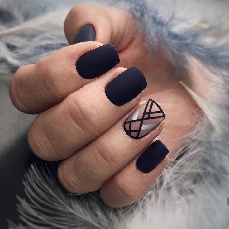 Дизайн Ногтей Черно Золотой Фото