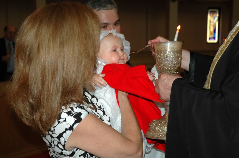 Communion after baptism