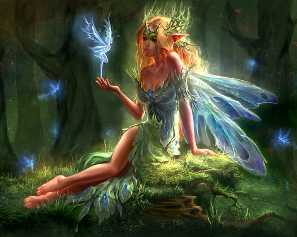 подарок редкие картинки с феями и эльфами что