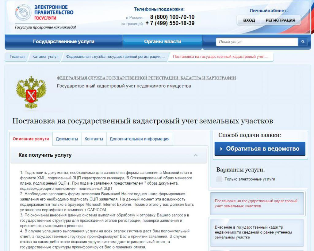 Сайт электронного правительства россии