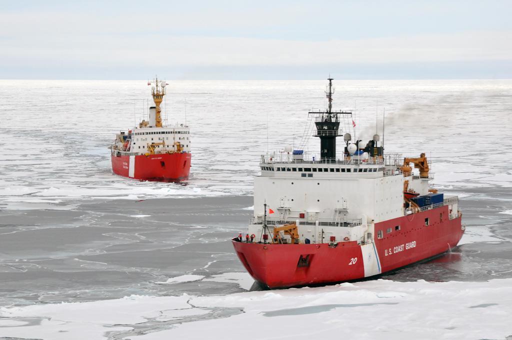 Two icebreakers