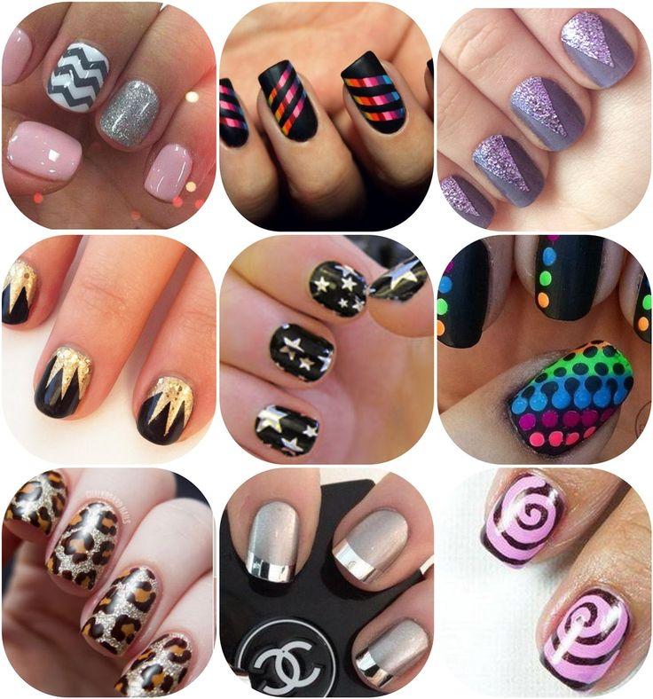 manicure through stencils