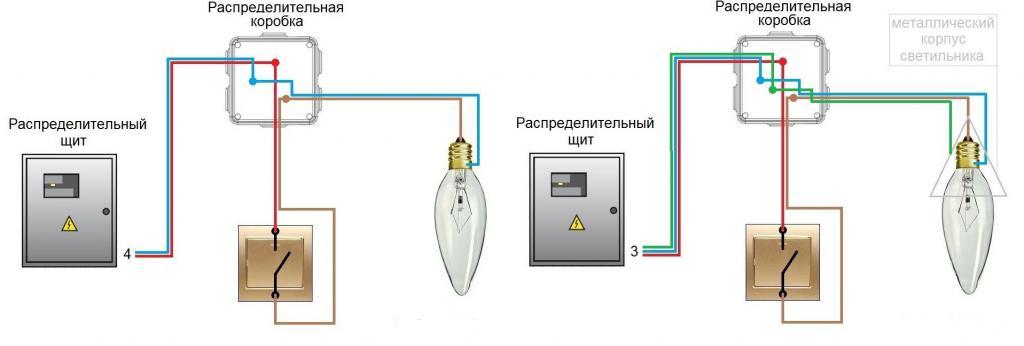 Single-phase circuit breaker connection diagram