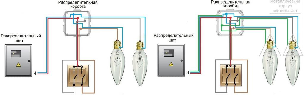 Two-phase circuit breaker connection diagram