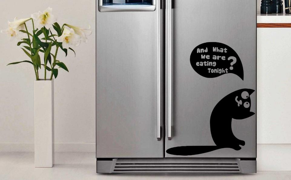 Stickers on the fridge