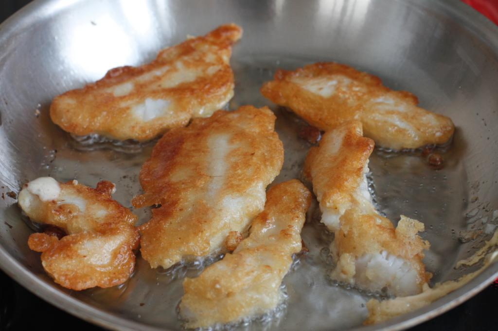 Fried fish fillet in batter
