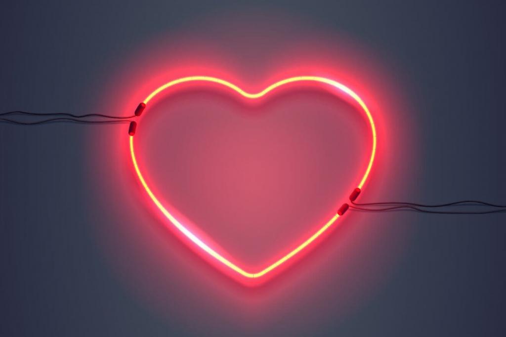 Светящееся сердце.