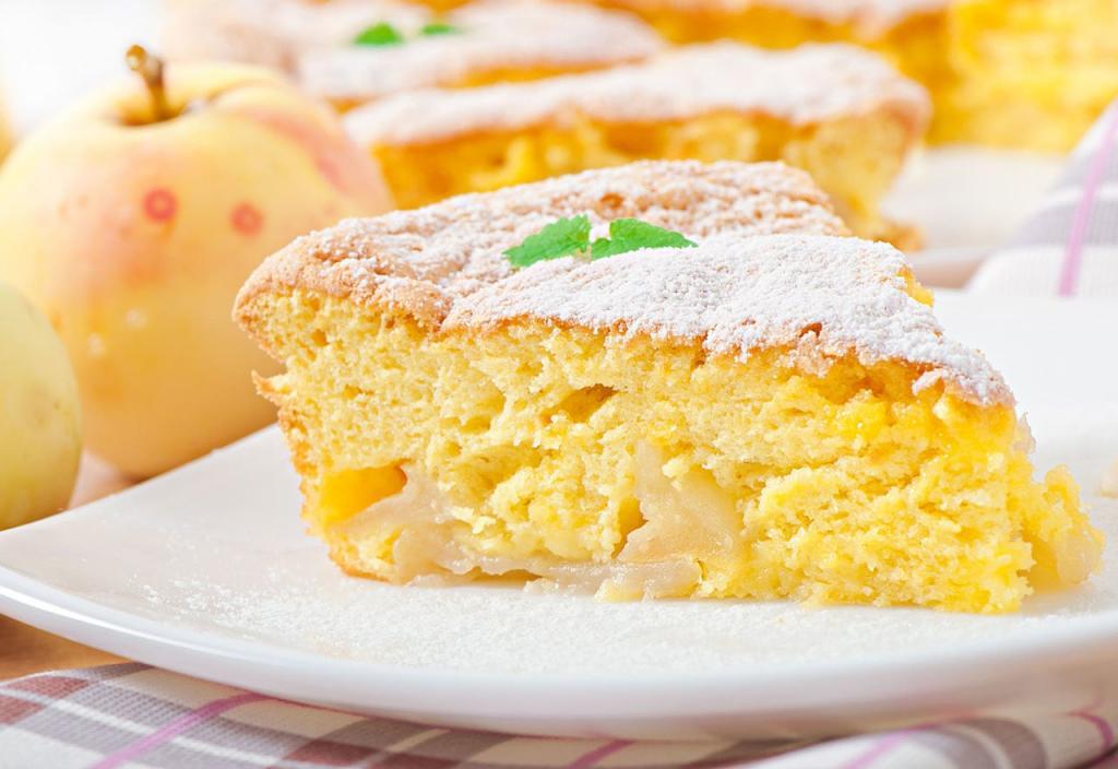 виден яблочный пирог из ряженки рецепт с фото детально строении