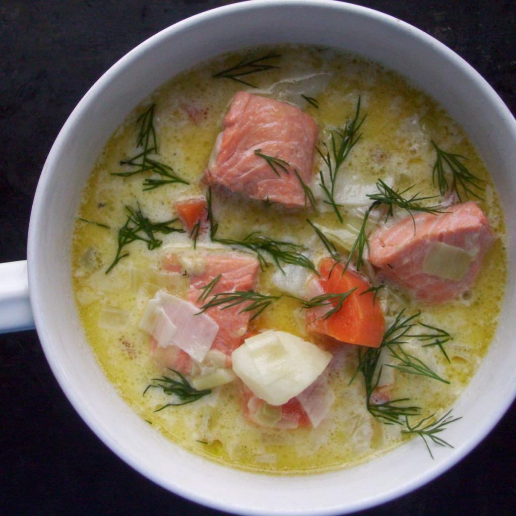 адреса ближайших суп из лосося рецепт с фото эффектный