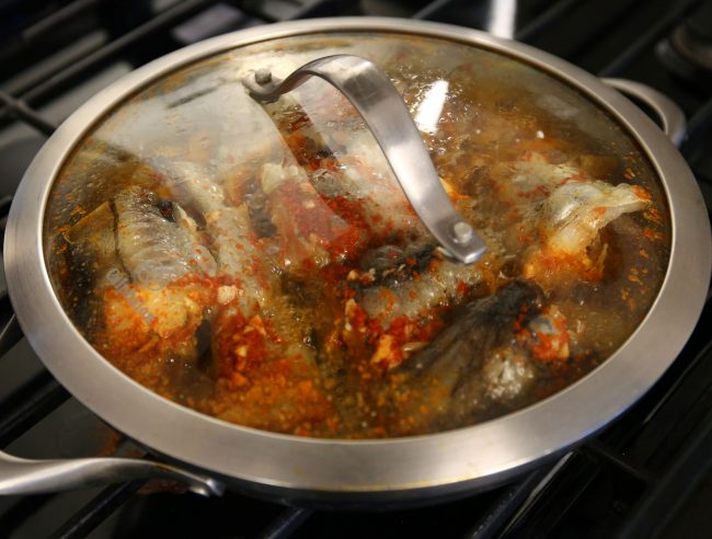 how much to fry pollock in a pan