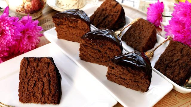 chocolate cake sponge cake fluffy and simple