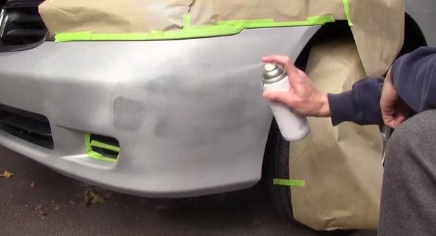 Как убрать царапину на бампере: способы и технологии