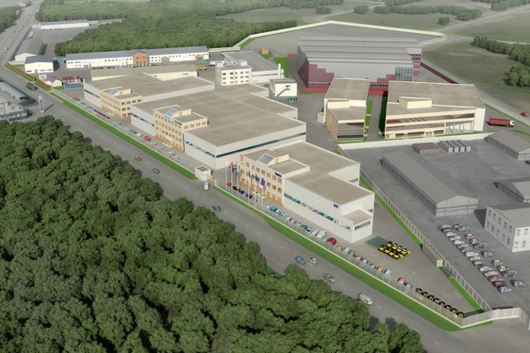 The project of an industrial park in the suburbs