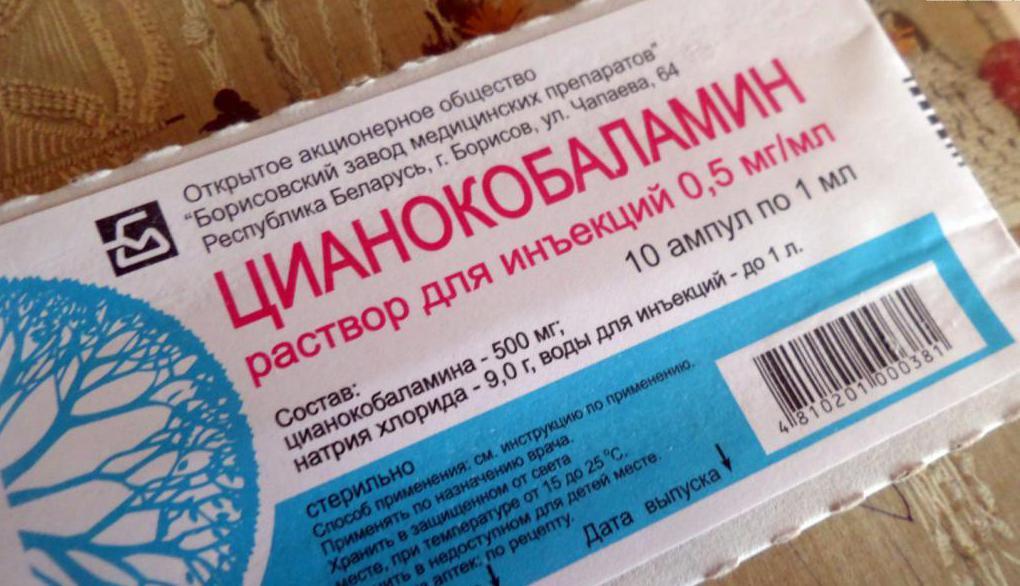 цианокобаламин в уколах