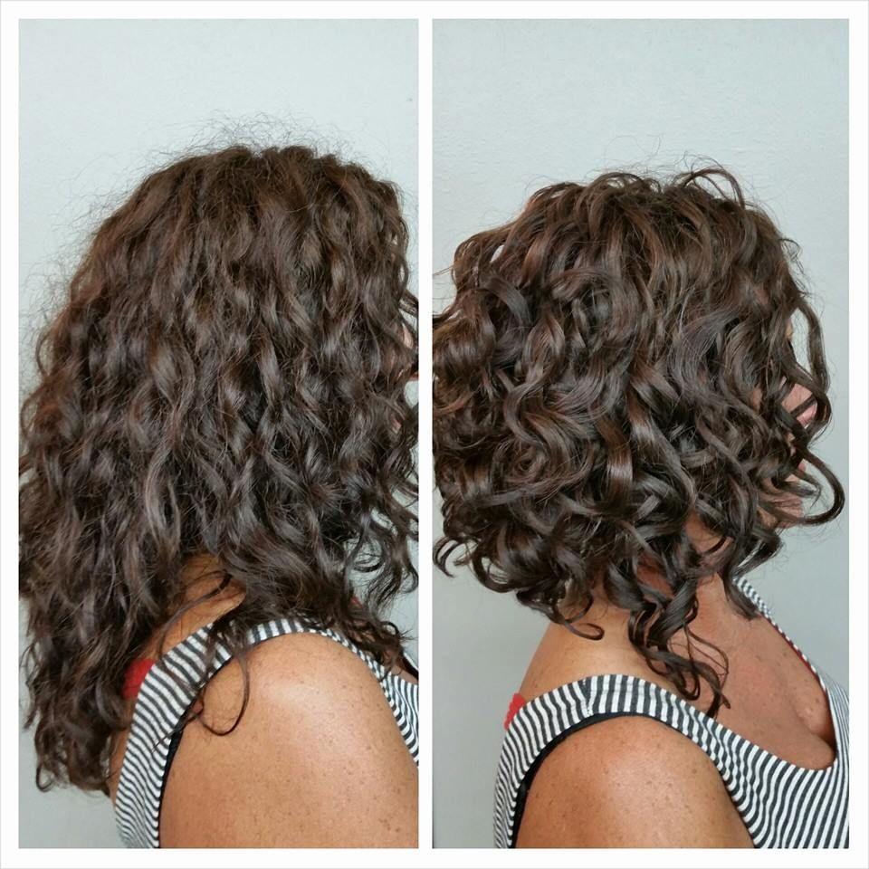 каскад и каре на волнистых волосах