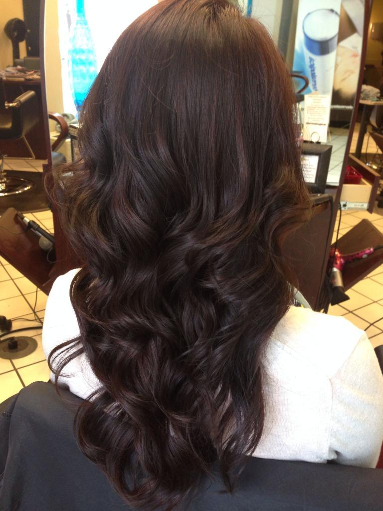 цвет волос темный шоколад