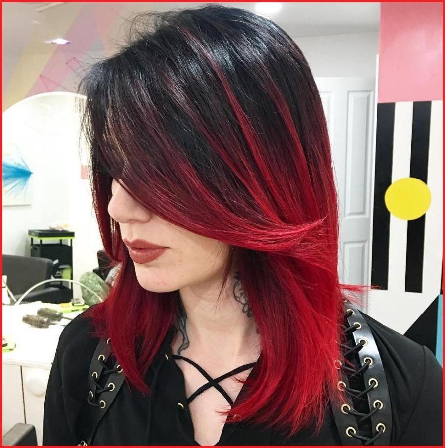 Красные кончики волос: особенности окрашивания, подбор оттенков к основному цвету и примеры с фото