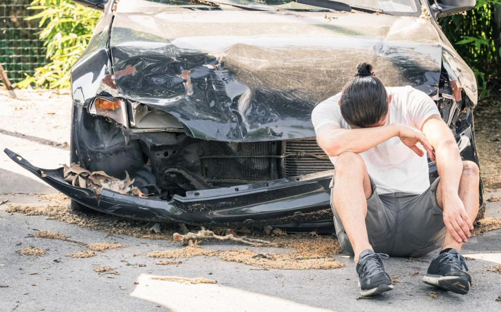 become a victim of an accident in a dream