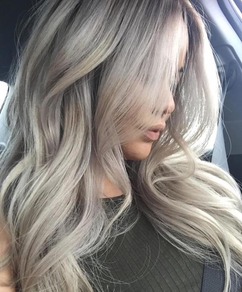 Пепельно-белый цвет волос: кому подходит, как добиться нужного оттенка