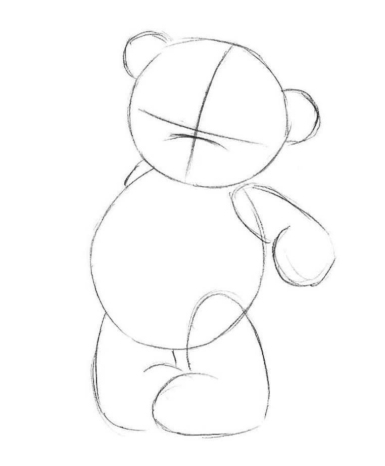 Как нарисовать мишку картинку