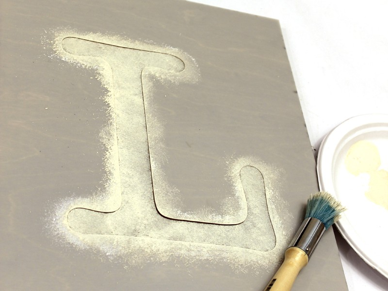 шаблон для буквы