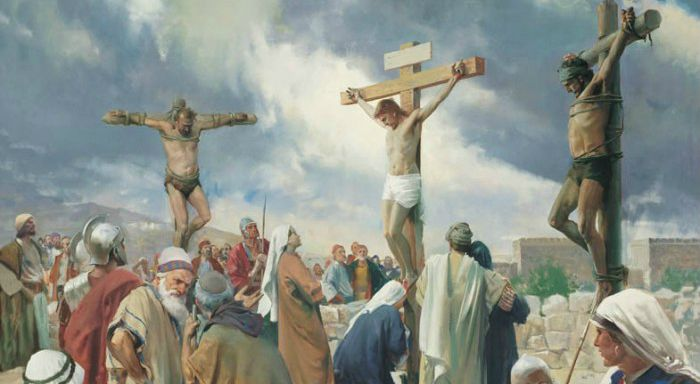 Jesus was crucified like a thief
