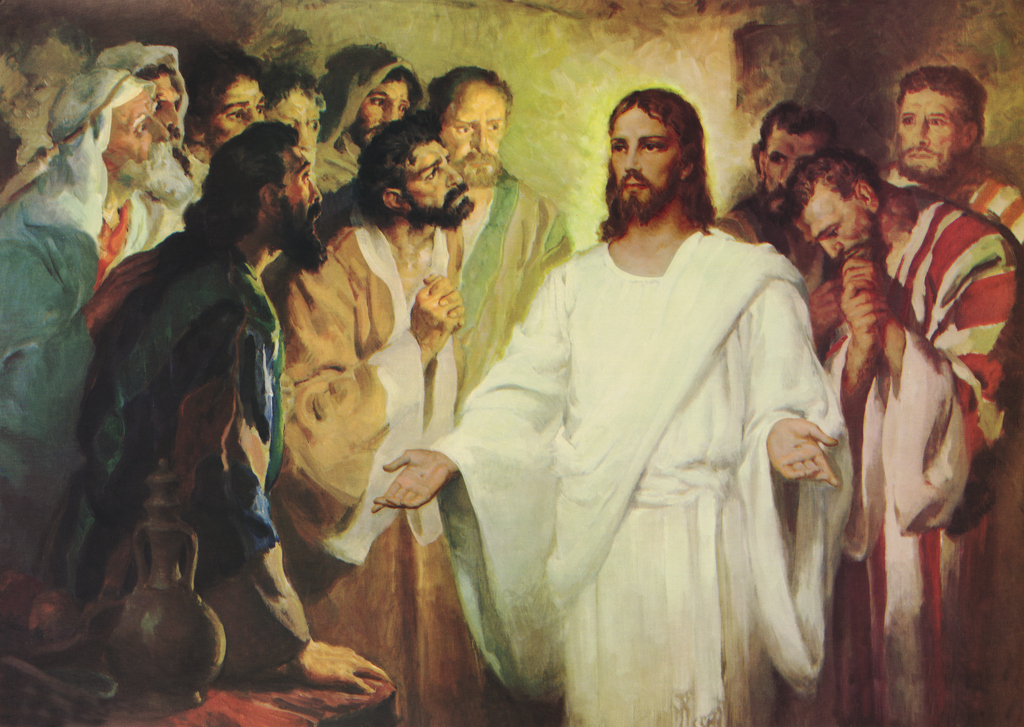 The risen Jesus convinces Thomas the Unbeliever in his realism