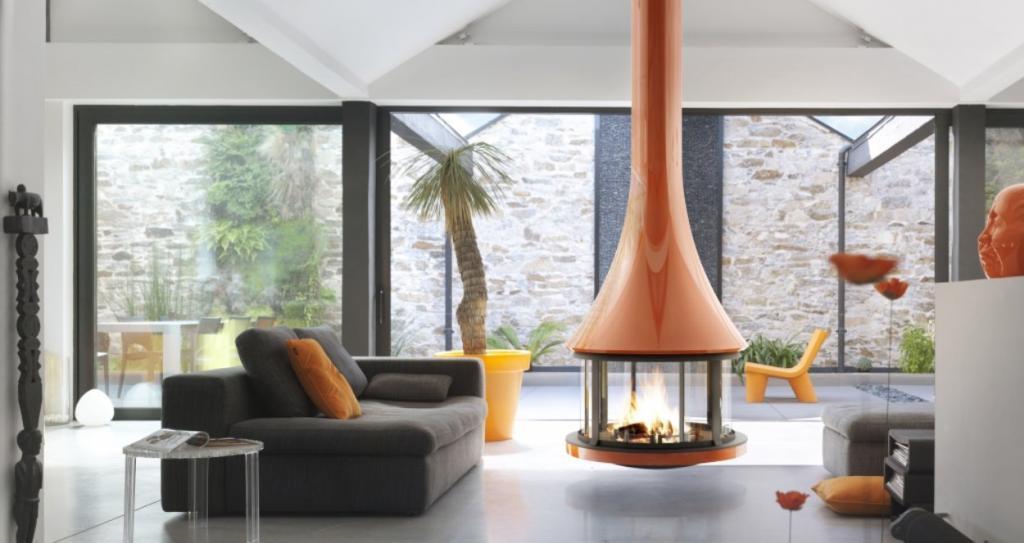 Камины в современном стиле: монтаж, топливо и дизайны очагов