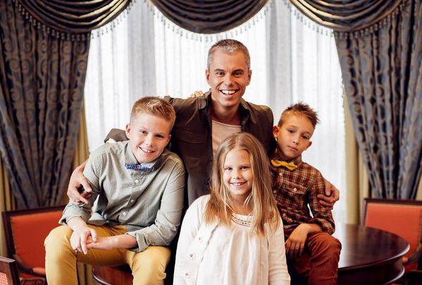 Андрей с детьми