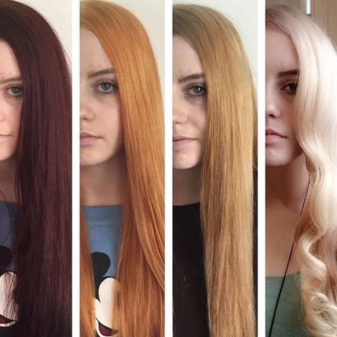 4 оттенка волос