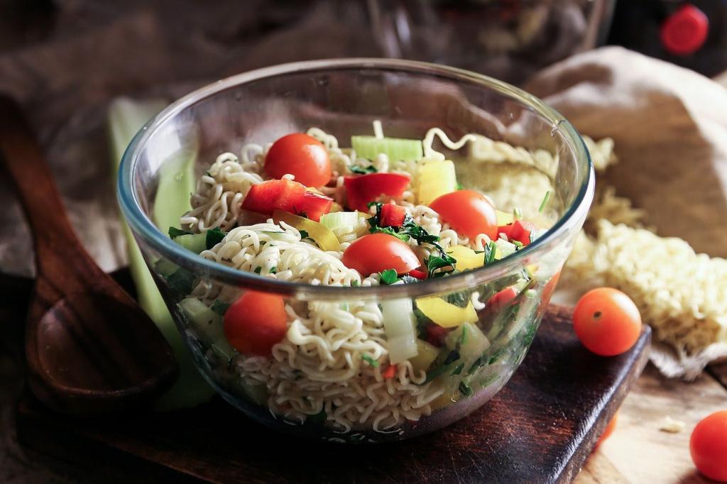 sausage noodles salad