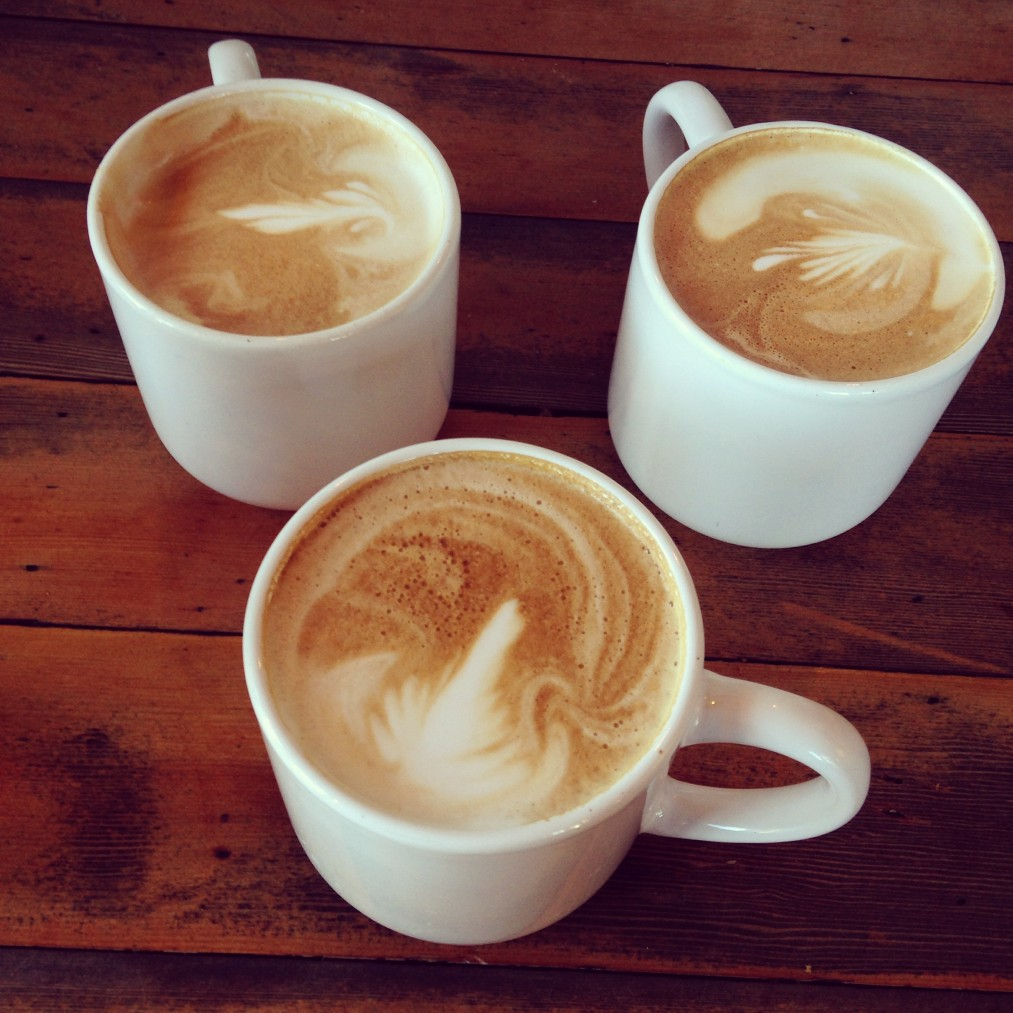 Ready coffee with foam