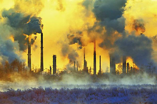 Загрязнение воздуха промышленными парами