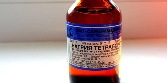 Натрия тетраборат применение