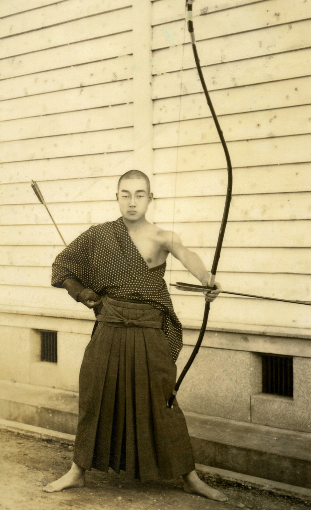 Samurai before shooting