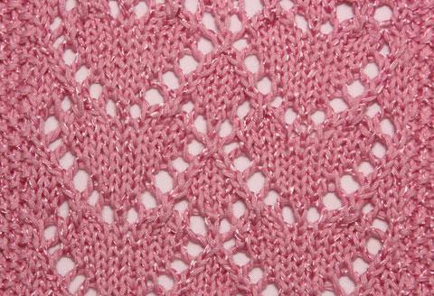 красивые узоры для вязания спицами сердечки