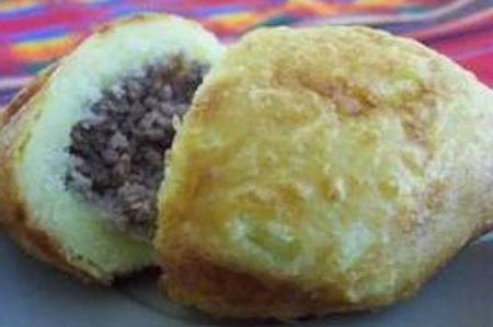 картошка фаршированная мясом в духовке
