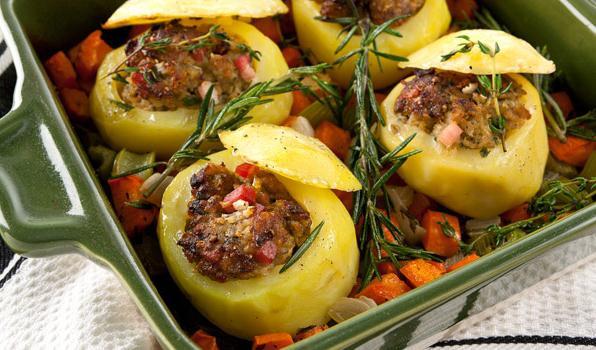 как сделать картошку с мясом